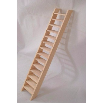 Stairs  Narrow  Assembled  2 X 11 wood dollhouse miniature CLA70251  1/12 scale
