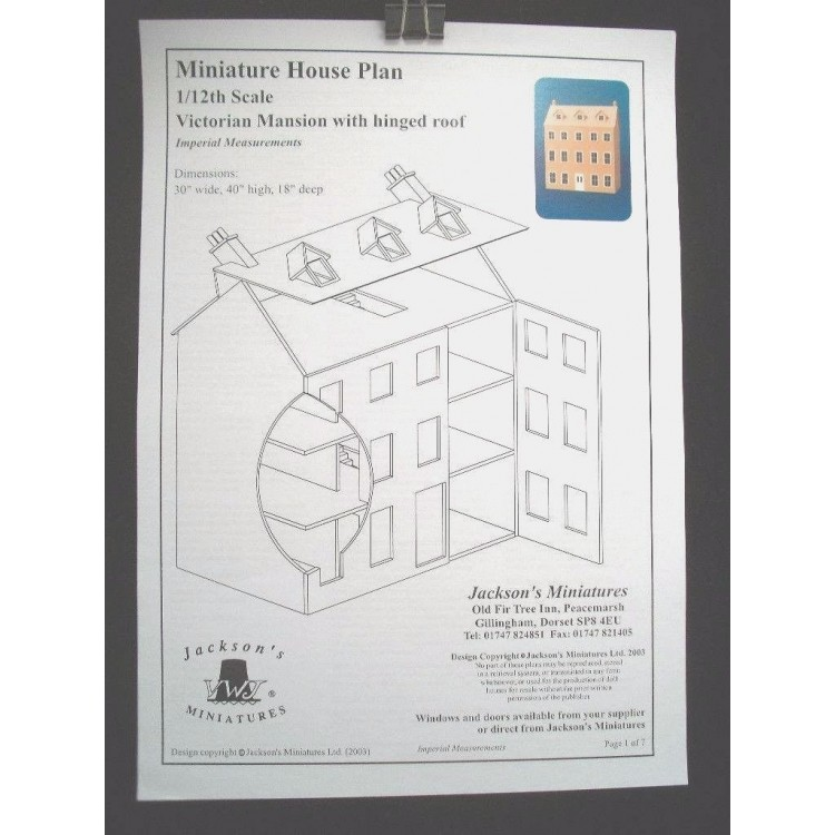 Dollhouse plans victorian mansion front opening design 1 for Victorian furniture plans
