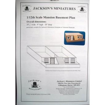 Dollhouse Plans: Mansion Basement Plans for Victorian  / Georgian 1/12 scale A08