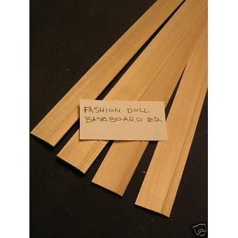 Baseboard #2 Fashion Tonner doll trim molding 4pcs 1/8 1/6 scale MW0802