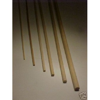 "1/4""  6mm hardwood Dowel Rod dollhouse supplies 36"" long 4pcs wooden full round"