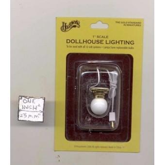 Light - Ceiling Lamp globe 2652 dollhouse miniature 1/12 scale electric 12volt