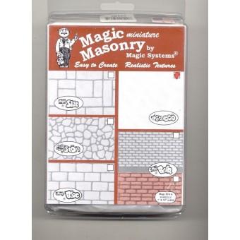 """Magic Masonry""  Stucco Red  -2-1/2 sqft dollhouse miniature SW520R"