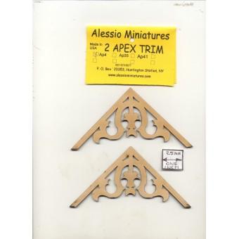 Apex Trim - AP4 wooden dollhouse miniature 1:12 scale USA made 2pcs 1/12 scale