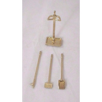 Fireplace Tools - 1/12 scale dollhouse miniature IM66236 metal 4pcs