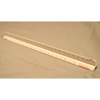 "Architect's Scale -  Ruler #TS656 - measuring tool - Drafting model 12"" long"