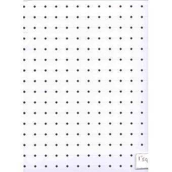 Black & White Octagon Plastic Tile Floor Sheet dollhouse FF60640 1.12 scale