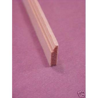 Baseboard Molding #4 dollhouse miniature trim 6 pieces 1-12 scale MW12004