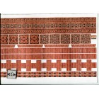 Embossed Brick Ornamental Sheet 34979 wallpaper World Model dollhouse 1/12 scale