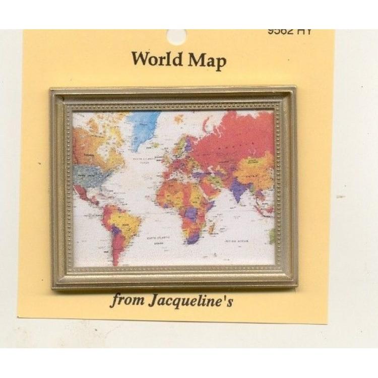 Painting print modern world map dollhouse miniature 112 scale painting print modern world map dollhouse miniature 112 scale 9562hy gumiabroncs Gallery