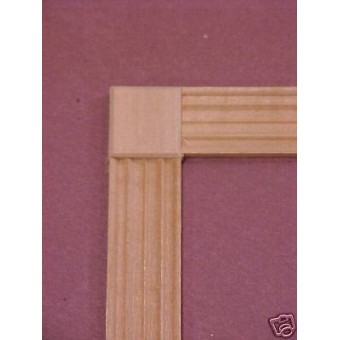 Window Door Corner Block #1 trim 10pcs dollhouse 1/12 scale miniature molding