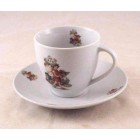 Tea / Coffee Cut w/ Saucer - Strawberry Fairy - Reutter Porcelain 74.074/3