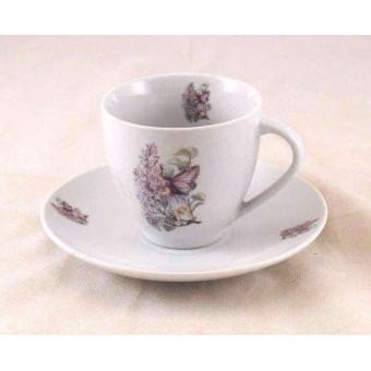 Tea / Coffee Cut w/ Saucer - Lilac Fairy - Reutter Porcelain 74.074/4