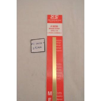 Brass Strip -  0.016In X 1/4In X 12In  - K&S #KSE230 1pc