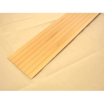 "Lap Siding 1/2"" basswood 1pc  miniature clapboard exterior  7037 1-12 scale 24""L"