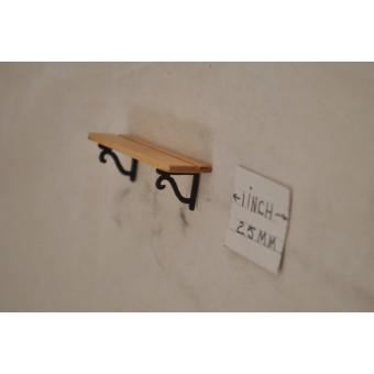 Plate Shelf / Oak  - 1/12 scale dollhouse cast miniature OMA100O USA OH