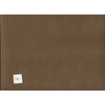 Latex Brick Sheet  Half Scale 1:24 miniature Dollhouse  #H8208 Houseworks