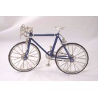 Bicycle, Blue Metal 1/10 Scale G8126 - Working Chain & Brakes  OVERSIZE Die Cast