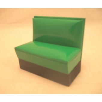 1950s Booth / Bench Green T5898  dollhouse miniature furniture 1pc 1/12 scale