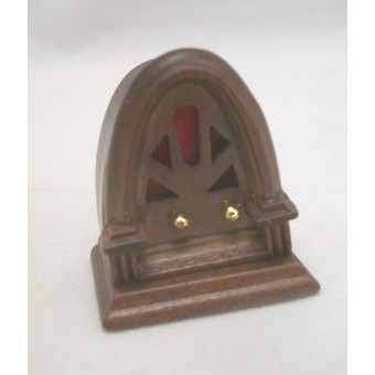 1920s Cathedral Table Radio miniature wooden 1/12 scale CLA10588 dollhouse