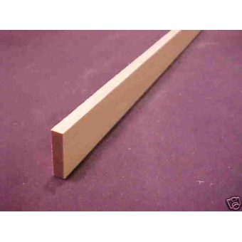 "1/4 x 1-1/2 x 23"" Model Lumber  basswood architect  1pc"