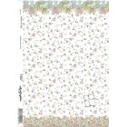 Spring Pallette dollhouse wallpaper miniature 1pc 220D2 1/12 scale minigraphics