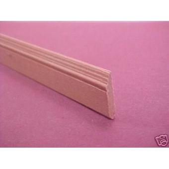 Victorian Skirt board miniature dollhouse molding  trim 3pcs 1/12 scale MW12003