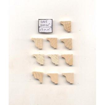Shelf Braces 2 mantel corbel dollhouse window trim 10ps 1/12 scale