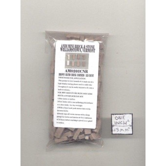 Bricks Corner  Brown plaster w/ solid color miniature 125pk 1/12 scale AM0201CNR