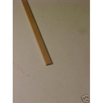 "1/16 x 1/8 x  22"" Model Lumber strip basswood   3pcs"