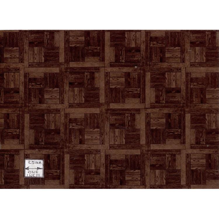 Dollhouse Parquet Flooring: Parquet Dark Wood Dollhouse Miniature