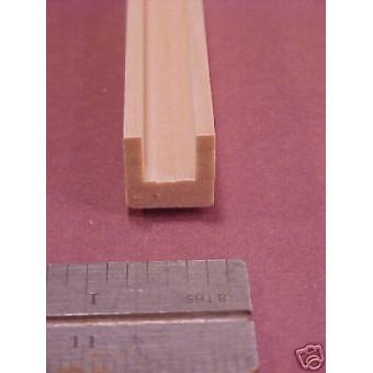 "Channel Edge Molding Dollhouse fits 3/8 plywood  MDF 1pc 36"" long"