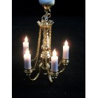 Light - 5 Lamp Candle Chandelier 2009 brass dollhouuse miniature 1/12 scale