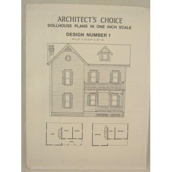 Dollhouse Plans Design #1 Architect's Choice 1:12 Scale