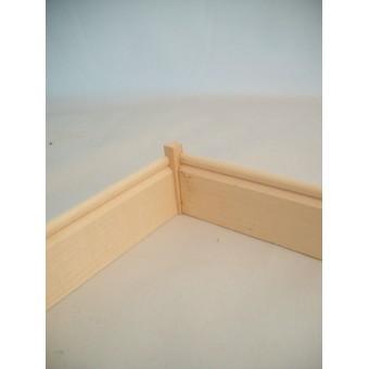 Fashion Doll - Baseboard Corner Block 15pcs basswood trim MW0803 1/8 scale