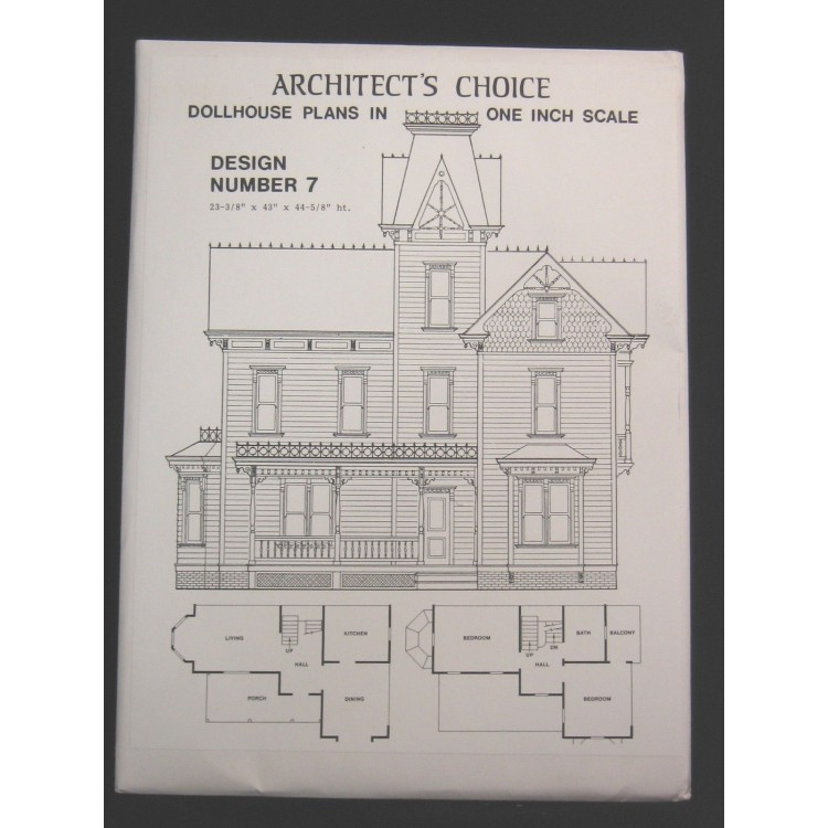 Dollhouse Plans Design 7 Architect's Choice 1:12 Scale