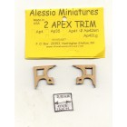 Apex Trim - AP42sm wooden dollhouse miniature 1:12 scale USA made 2pcs
