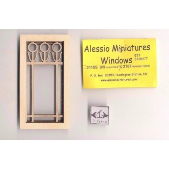 Half Scale - Flower Window 2187HS wood dollhouse miniature 1/24 scale USA made