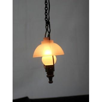Light - Antique Brass Swag Lantern 2002 miniature 1/12 scale 12 volt lamp