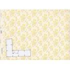 Iris  91D23  yellow dollhouse wallpaper miniature 1pc 1/12 scale