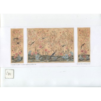 Chinoiserie wallpaper Half Scale 1/24 JMS57 Jackson's Miniatures 1pc.
