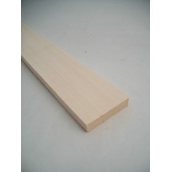 1/4 x 1-1/4 x 23 Basswood model Lumber carving wood 1pc.
