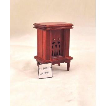 1940s  Radio - dollhouse miniature wooden 1/12 scale  D0272