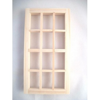 "12-Light Window 2-1/2x5"" dollhouse 1:12 scale #5024 1pc Houseworks wooden"