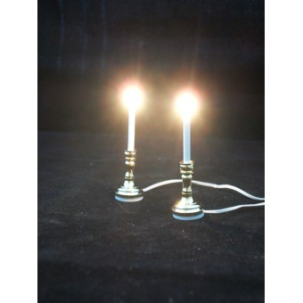 Light - Brass Candlesticks 2768 dollhouse miniature 1/12 scale candle lamp pcs