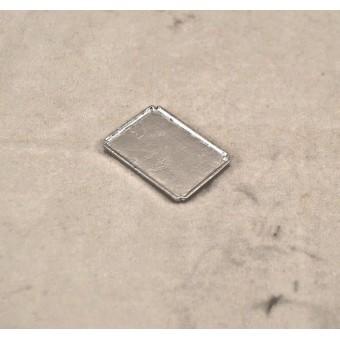 Tray - Silver  - 1/12 scale dollhouse cast metal miniature ISL0488