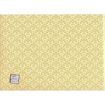 """""""Um - Gold"""" miniature wallpaper Jackson's Miniatures dollhouse JM05 1/12 scale"""