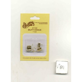 Butt Hinge 1122 miniature dollhouse hardware 4pcs Houseworks 1/12 scale