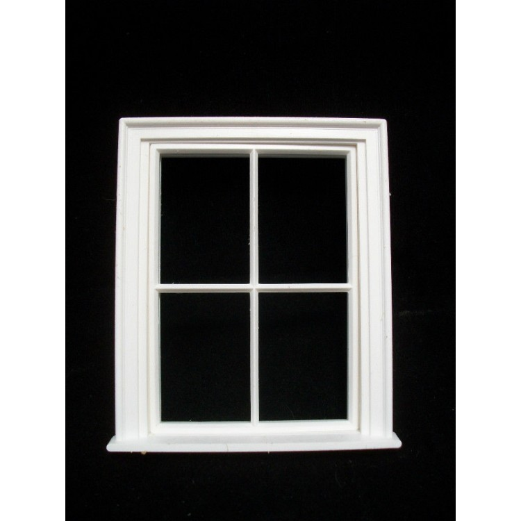Window: Victorian 4 Pane Small Window Jacksons Miniatures