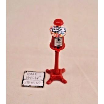 Gumball Machine - dollhouse miniature CB145 1/12 scale plastic